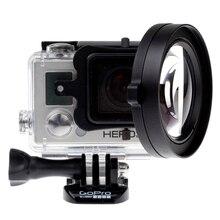 купить 58mm 16X HD Close-up Macro Lens Adapter Ring Camera Lens red Filter for GoPro HERO 4 3+ hero4 Session black Camera Accessories по цене 1095.51 рублей