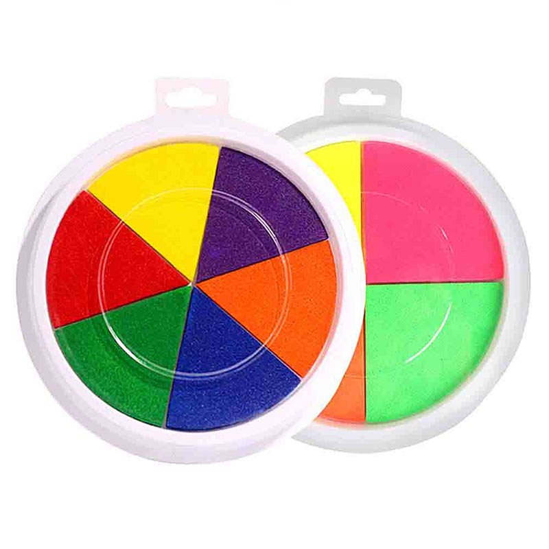 Funny 6 Colors Ink Pad Stamp DIY Finger Painting Craft Cardmaking For Kids Drawing Baby Toys 0-12 Months Kids Toy