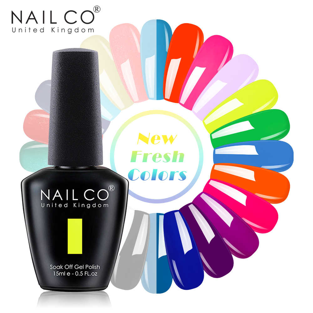 NAILCO 15ml Estate Evidente Fresco Serie di Fluorescenza di Colore Del Gel Del Chiodo di Disegno Unghie Artistiche Glitter Manicure Set UV/LED unghie Gel