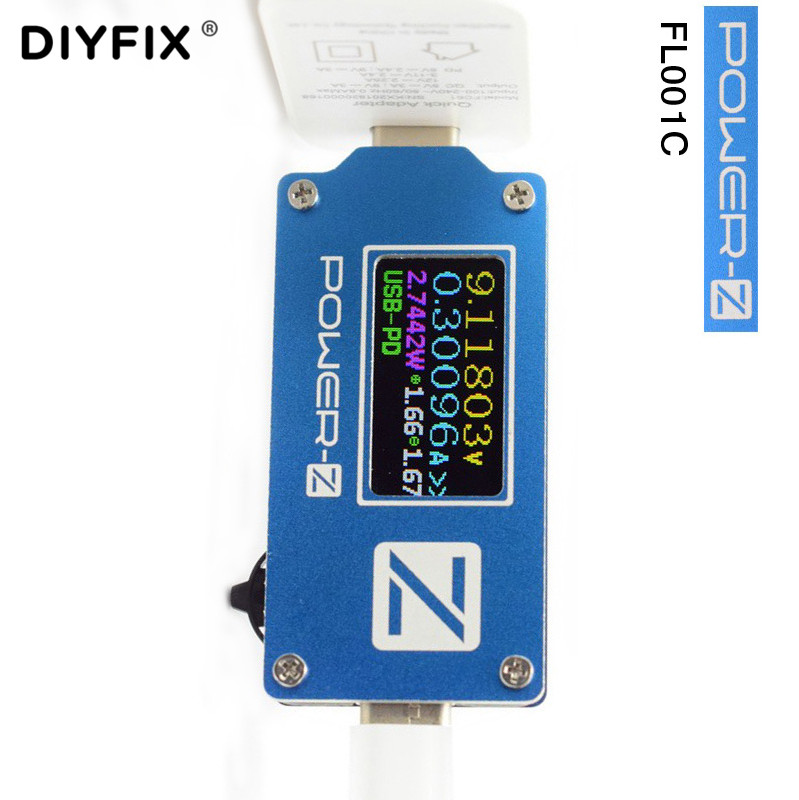 ChargerLAB Power-Z USB Type-C PD QC 2.0 3.0 Tester FL001C Voltage Current Volt Meter USB PD Power Bank Detector Converter