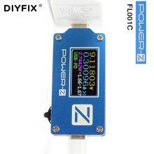 """ChargerLAB כוח Z USB סוג C פ""""ד QC 2.0 3.0 בודק FL001C מתח הנוכחי וולט מטר USB פ""""ד כוח בנק גלאי ממיר"""