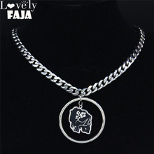 AFAWA Punk Stainless Steel Statement Necklace Women Silver Color Mexican Skull Choker Necklace Jewelry collares N3715S03 2019 family stainless steel necklace women jewlery silver color dad mum and son statement necklace jewelry gargantilla n18018