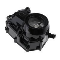Engine Right Side Upper Auto Clutch Casing Cover Case for 50 70 88 90 110 125CC Pit Bike ATV QUAD  Heavy Duty Black