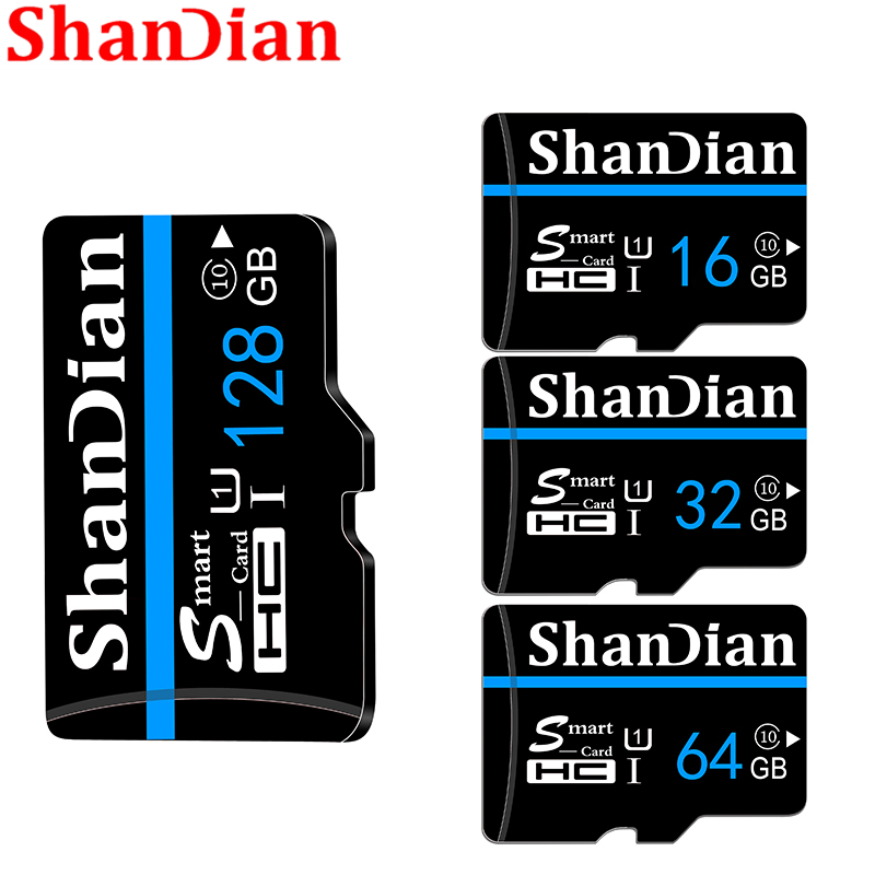 Original SHANDIAN Memory Card 128GB 64G Microsd Tf Card 32G 16G SDXC SDHC Micro Sd Card Cartao De Memoia Free Shipping Flash Car