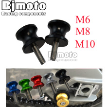 BJMOTO Motorcycle 10MM 6mm 8mm CNC Swingarm Spool Slider Stand Screws For Honda Yamaha Kawasaki Ninja 250 Suzuki Triumph S1000RR