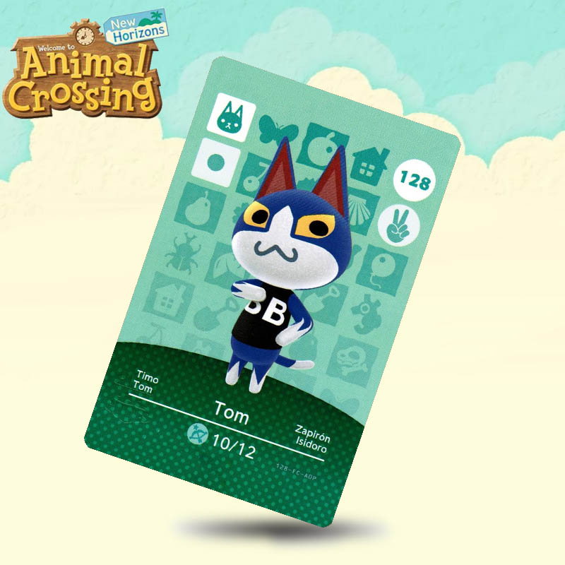 128 Tom Animal Crossing Card Amiibo Cards Work For Switch NS 3DS Games