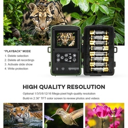 1080P Hunting Cameras IP66 Waterproof Night Vision for Animal Photo Wildlife Camera 940Nm 120 Degree Viewing Camera Traps