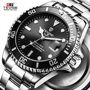 Image 3 - Hot Verkoop 2020New Tevise Quartz Heren Horloge Automatische Datum Fashion Luxe Sport Horloges Rvs Klok Relogio Masculino