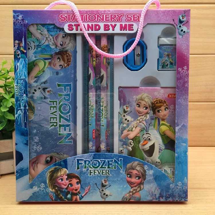 Most Complete Disney Frozen Children PencilCases Kids School Supplies Stationery Cartoon   Pencil Bag Boys Girls Set