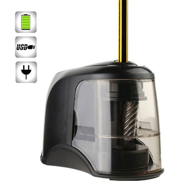 Electric Pencil Sharpener Best Heavy Duty Helical Steel Blade for Artists Kids Adults Colored Pencils