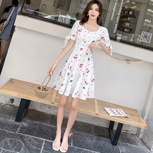Spring and summer new style Korean print fashion dress star temperament elegant