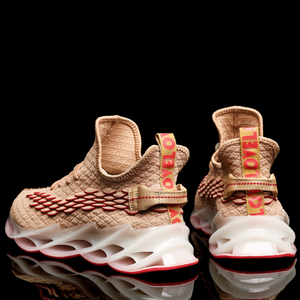 Image 4 - 2020 yeni açık erkekler ücretsiz erkekler için çalışan koşu yürüyüş spor ayakkabı yüksek kaliteli dantel up Athietic nefes bıçak Sneakers