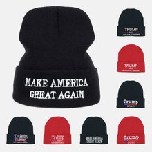 New Trump Hat Election Knitted Sweater Men Women Winter Warm street dance hiphop Skullies Beanies