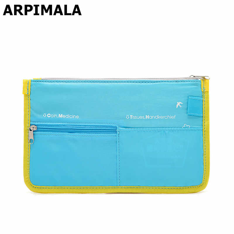 Arpimala Multifunctionele Paspoort Tassen Reizen Credit Id-kaart Houder Case Document Organizer Vrouwen Bill Ticket Purse Checkbook