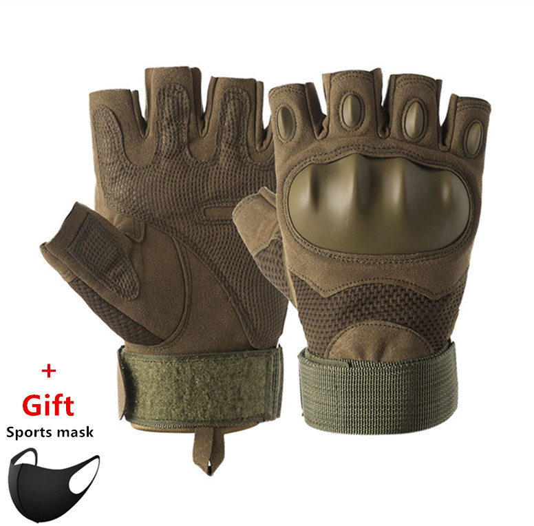 Tactical gloves men and women Half Finger sports cycling Fitness Gloves Special Forces Combat protection army fans