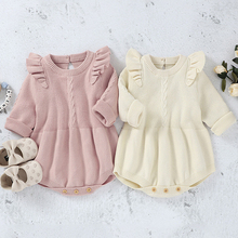 Clothing Romper Apring Autumn Infant Baby-Boys-Girls Kids New Long-Sleeve Knitting Pure-Color