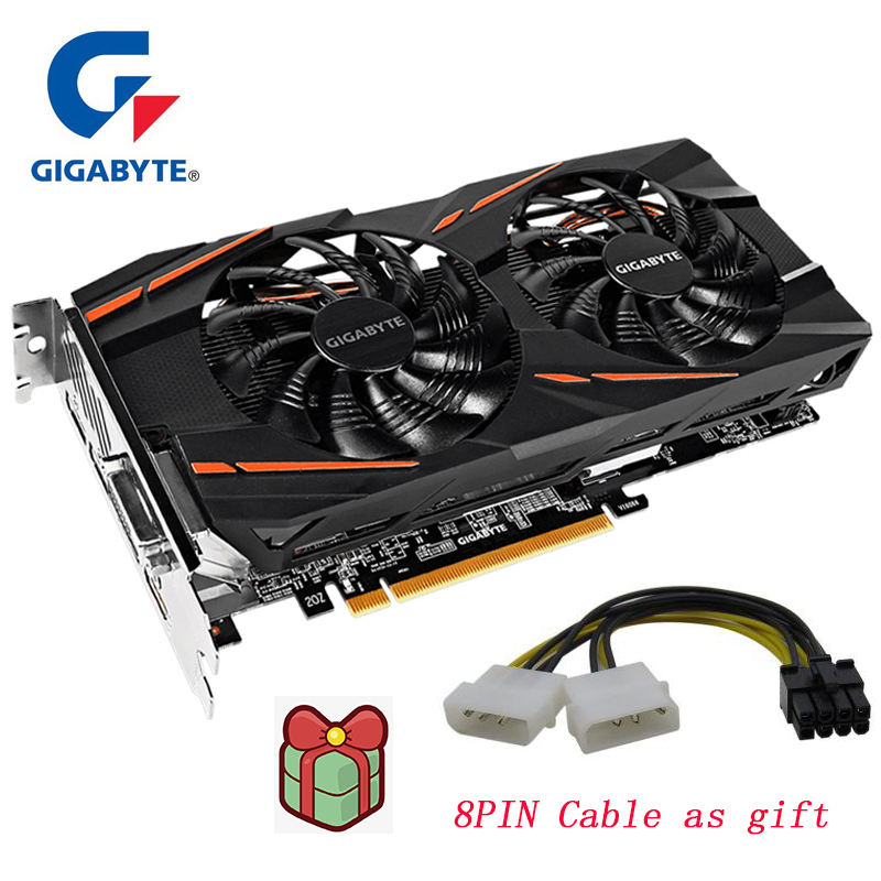 Gigabyte graphics card Radeon RX580 8G 256 Bit 8GB AMD PC <font><b>rx</b></font> <font><b>580</b></font> Powered Graphic card Intuitive AORUS Graphics Engine by Radeon image