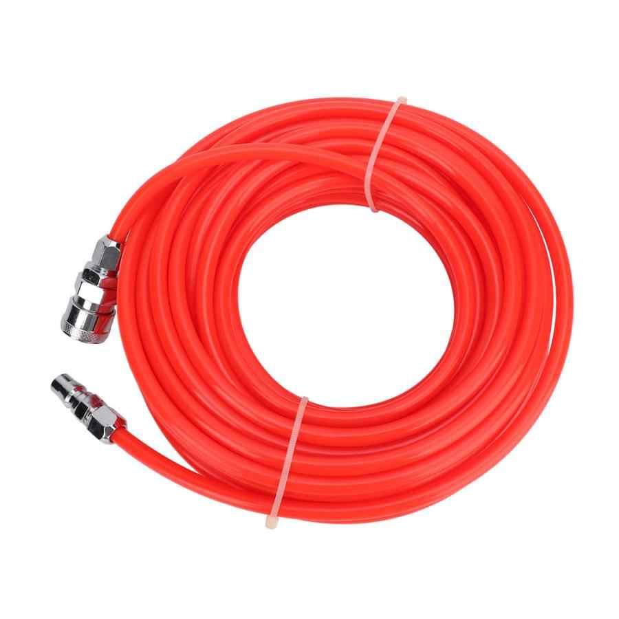 5*8mm Hochdruck Flexible Kompressor Schlauch mit Männlichen/Weiblichen Schnell Anschluss 15M Rot Pneumatische schlauch