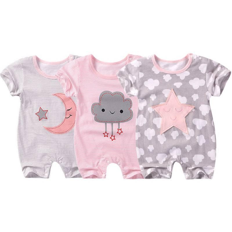 BOBORA Unisex Newborn Baby Short Sleeve Ladies I Have Arrived Romper Bodysuit Clothes