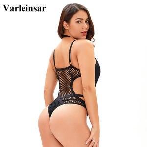Image 4 - XS 5XL malha líquida preta sexy plus size grande mulher roupa de banho um pedaço maiô feminino banhista natação praia monokini v536