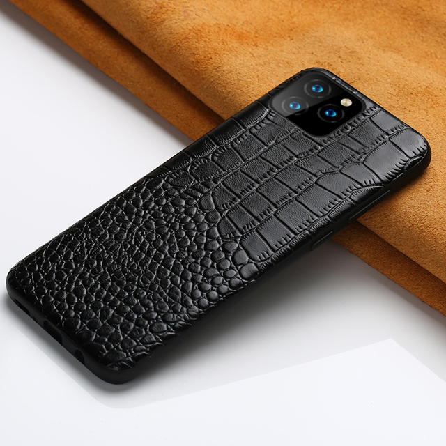 LANGSIDI Genuine Leather phone case for iphone 11 pro max Luxury Shockproof cover for Apple iphone XR X 8 7 6s XS Plus Fundas 2