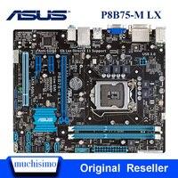Asus P8B75-M LX اللوحة المقبس LGA 1155 B75 i3 i5 i7 DDR3 P8B75 متر سطح المكتب 16 جرام uATX UEFI BIOS الأصلي اللوحة الرئيسية مجددة