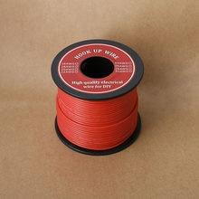 26/24/22/18 awg fio flexível cabo de fio de silicone 6 cor gancho-up fio elétrico linha de cobre para diy