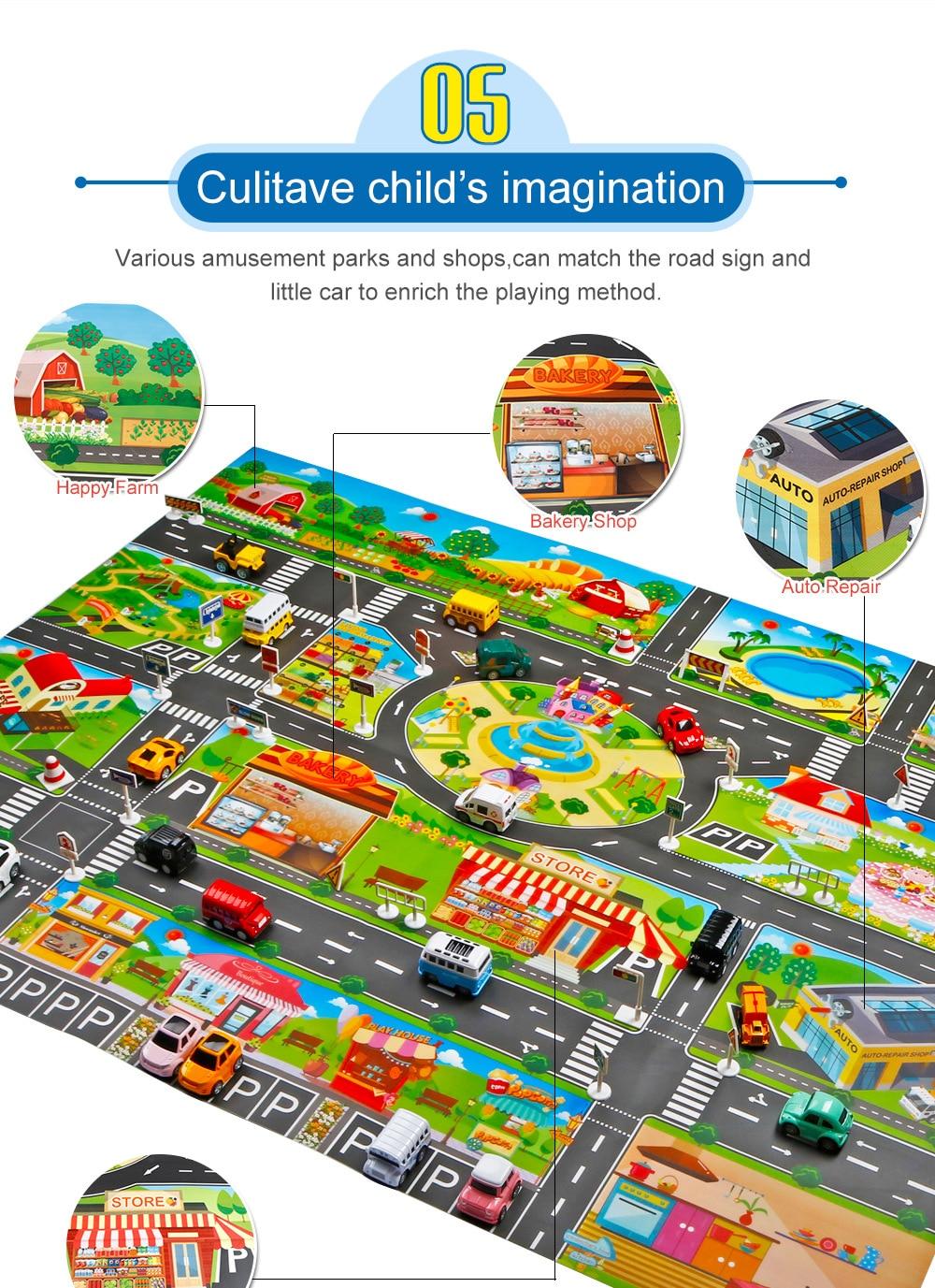 H56fd7cf6e76a4c118cc92fe5f9f4b08f1 Large City Traffic Car Park Mat Play Kids Rug Developing Baby Crawling Mat Play Game Mat Toys Children Mat Playmat Puzzles GYH