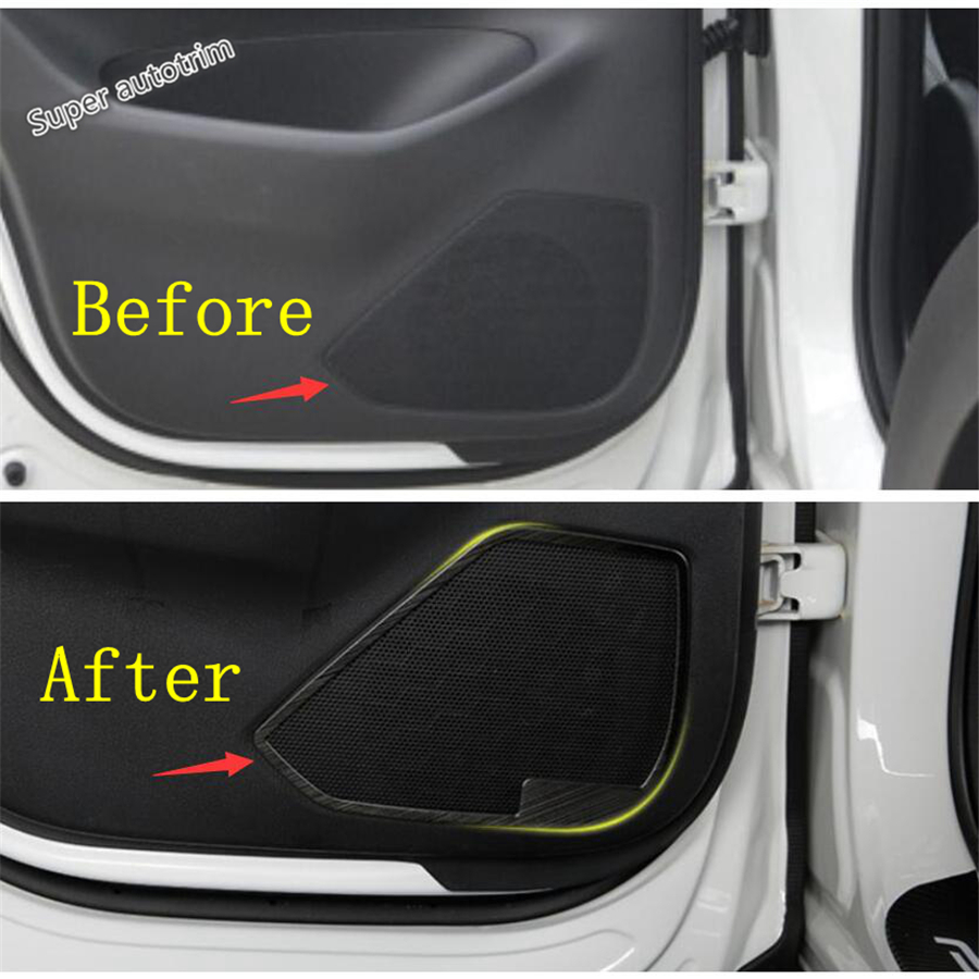 Lapetus Inner Door Stereo Speaker Audio Loudspeaker Sound Cover Trim Fit For <font><b>Mazda</b></font> <font><b>CX</b></font>-<font><b>5</b></font> CX5 2017 - 2020 / <font><b>Accessories</b></font> <font><b>Interior</b></font> image
