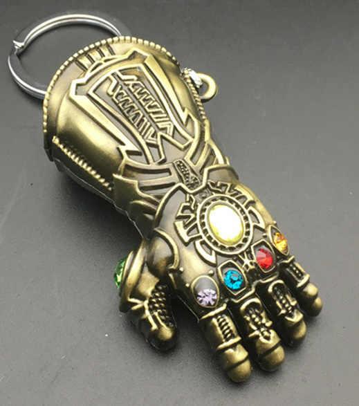 Marvel Avengers 4 Infinity War porte-clés Thanos gant modèle porte-clés hommes et femmes cadeau porte-clés bijoux de mode