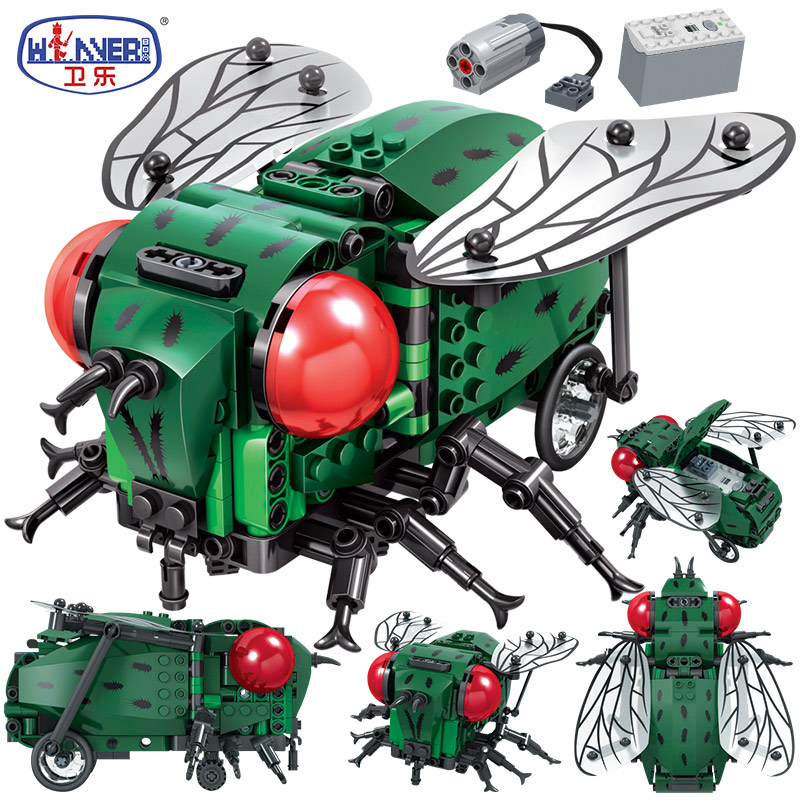 ERBO Creator Simulated Insect DIY Electric City <font><b>Building</b></font> <font><b>Blocks</b></font> <font><b>Technic</b></font> <font><b>MOC</b></font> Model <font><b>Building</b></font> Bricks sets Toys for Chidren Gifts image
