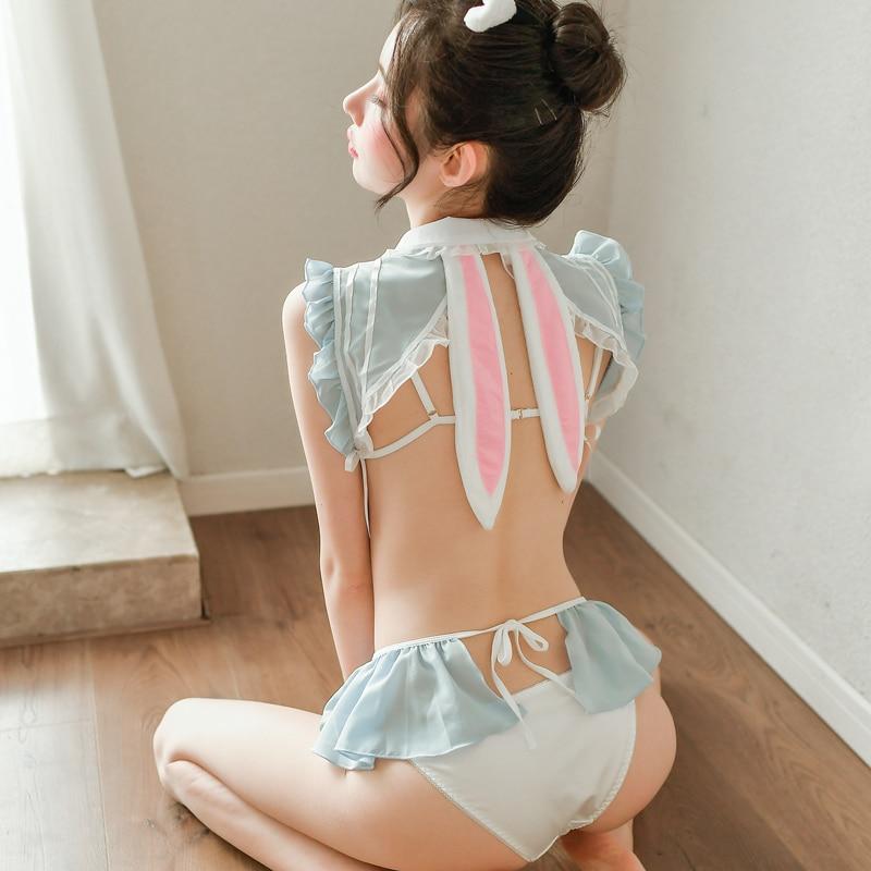 Erotic Cosplay Costume Sexy Backless Lolita Bunny Girl Porno Play ...