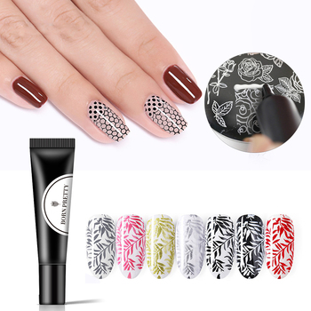 BORN PRETTY Nail Stamping Gel Polish 8ml Black White Stamp Print Oil UV Gel Lacquer Soak Off Varnish for Nail Art Stamping Plate