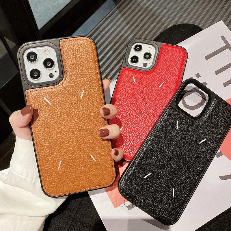 Margiela-funda de teléfono de cuero de poliuretano para Huawei, funda de teléfono de alta calidad con bordado de tendencia, para Huawei P40 Mate 30 40 Nova 8