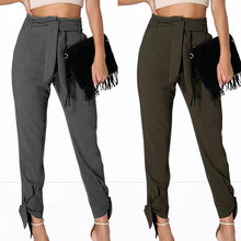 Celmia Women High Waist Harem Pants Casual Office Lady Palazzo Capris Bandage Casual Loose Long Trousers Plus Size Pantalon 5XL(China)