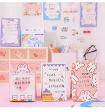 Ins стиль милый мультфильм животных торт свободный лист блокноты