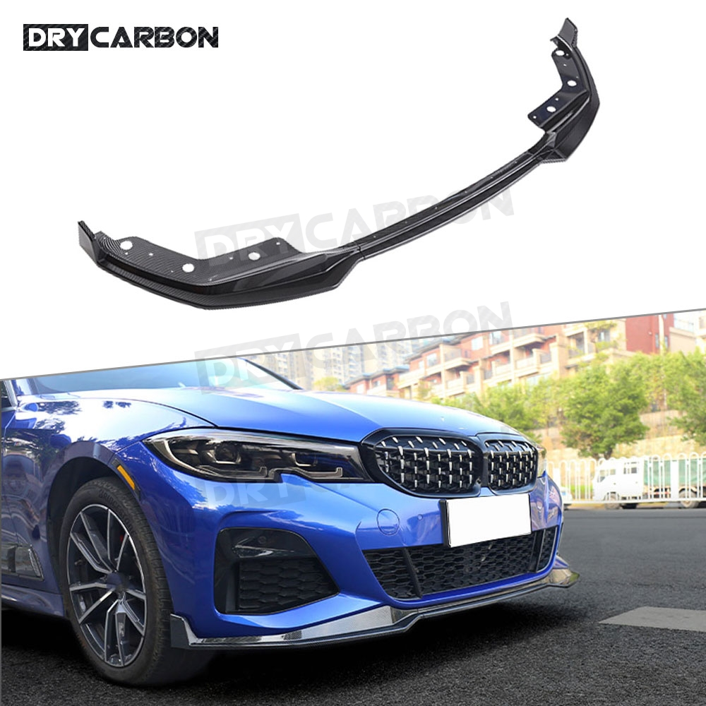 3 Series ABS Black Front Lip Spoiler Splitters Aprons MP Style For BMW G20 2019 2020 Head Bumper Protector|Bumpers| |  -