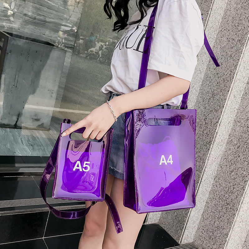 Women Shoulder Bag  Messenger Bag  Purses A4 A5 Flap  PVC  Fashion  Unisex Preppy Style Shoulder Bag Solid Puese