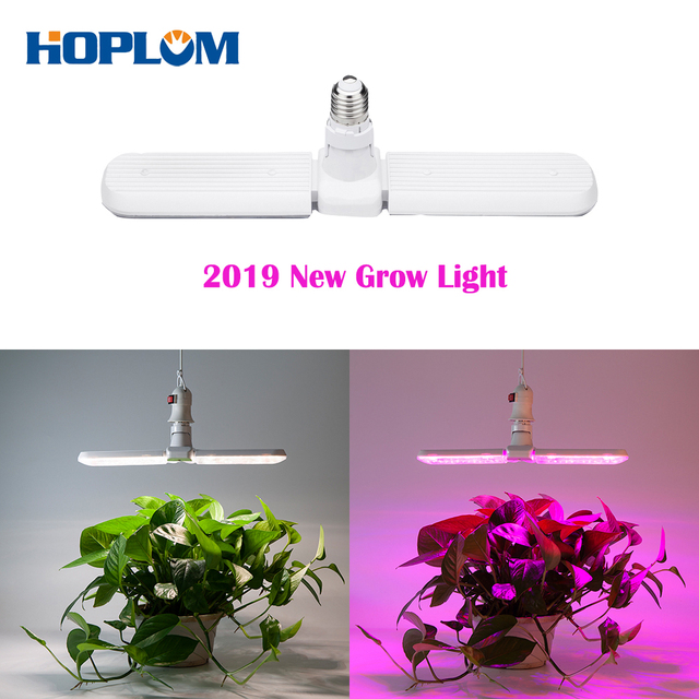 Deformable 75W E27 2 Modes LED Grow Light Sunlike Full Spectrum & Red/Blue Spectrum Plant Growing Lamp for Plants Seedling