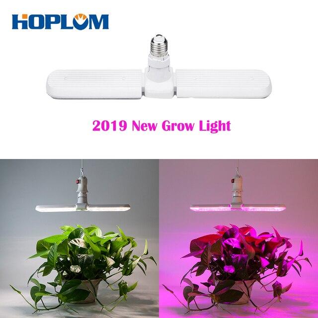 Luz LED Deformable para cultivo, 75W, E27, 2 modos de luz solar de espectro completo y Lámpara de cultivo de plantas de espectro rojo/azul para semillas de plantas