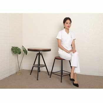 Hotel work clothes beautician dress short sleeved summer white half sleeved skin management uniform customization
