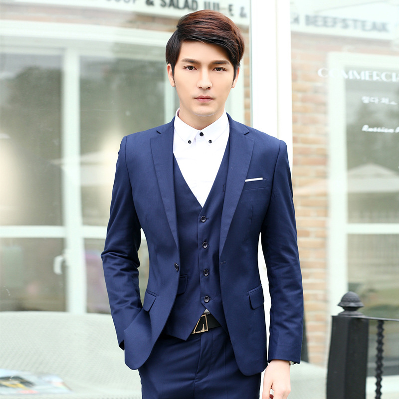 2018 Business Men'S Wear Korean-style Business Formal Wear Suit Men Suit Work Clothes Men And Women-