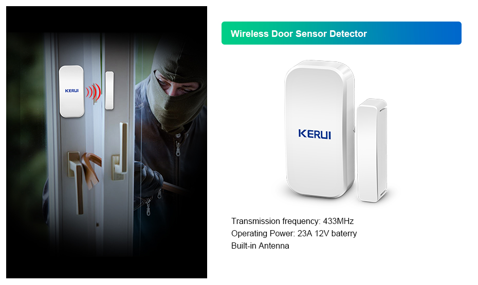 Kerui W18 Wireless Wifi GSM Alarm Systems Security IOS APP  GSM SMS Burglar Alarm System Motion Sensor Russian Warehouse 13