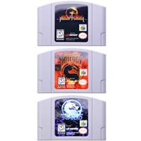 Video Game Cartridge Console Card 64 Bits Mortal Kombat Series For Nintendo64 Work on USA Version Consloe (NTSC)