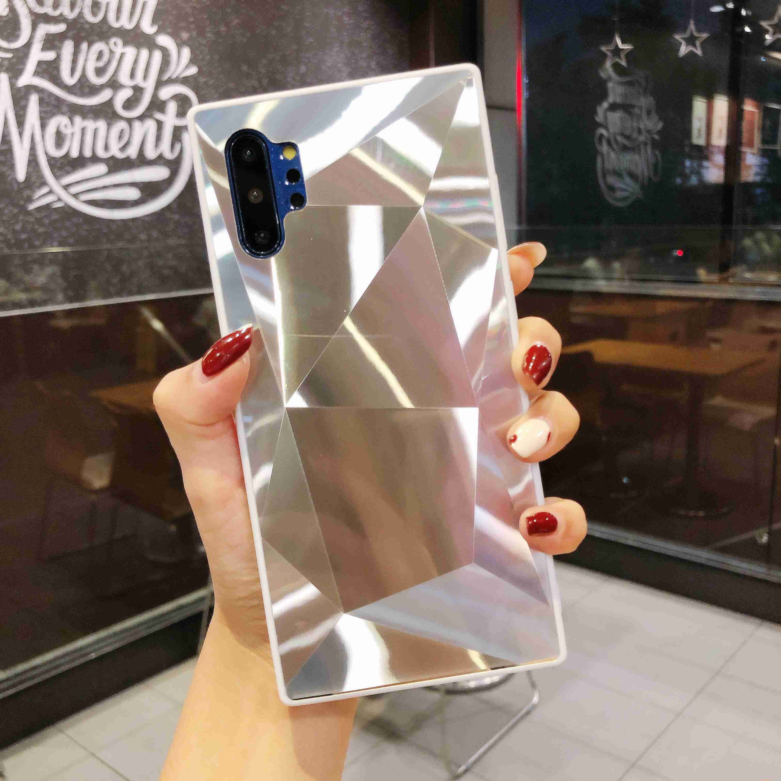 2020 <font><b>Cases</b></font> For <font><b>Huawei</b></font> Y5 Y6 Y7 Y9 Pro Prime P Smart 2019 3D <font><b>Diamond</b></font> Prism Texture Holographic Laser Soft <font><b>Case</b></font> Glossy Coque Funda image