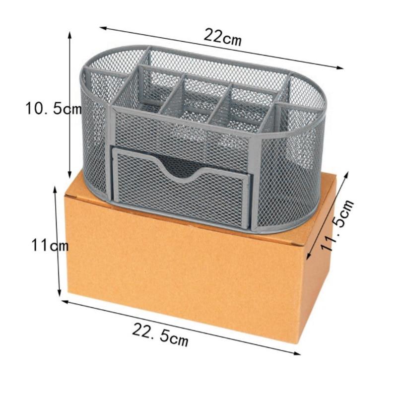 Metal Penalty Organizer Mesh Desk Organizer Table 9 Grids Design Storage Box Drawer Pencil Pen Holder For Neatening Tools 3