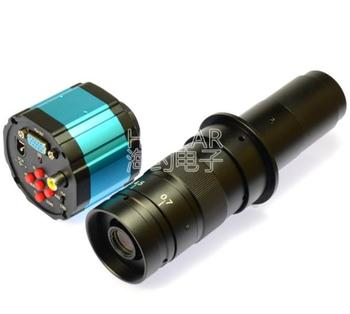 2.0MP VGA USB C-Mount Microscope Camera SD Card DVR Video Recorder + 180X Zoom Lens