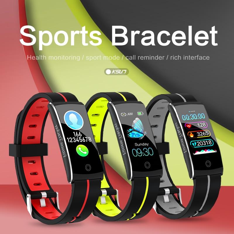 KSUN KSS903 Smart Bracelet Band With Heart rate Monitor ECG Blood Pressure IP68 Fitness Tracker Wrisatband Smart Watch