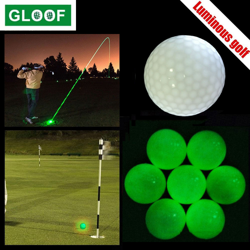 1Pcs Golf Balls for Night Sports Glowing in The Dark Fluorescent Golf Ball Bright Luminous Balls Colored 1