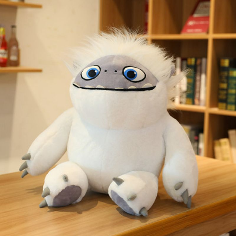 35cm Cartonn Abominable Snowman Toy Fluffy  Damao Snow Man Stuffed Animals Doll For Kids Baby  Gift Pillow Toy